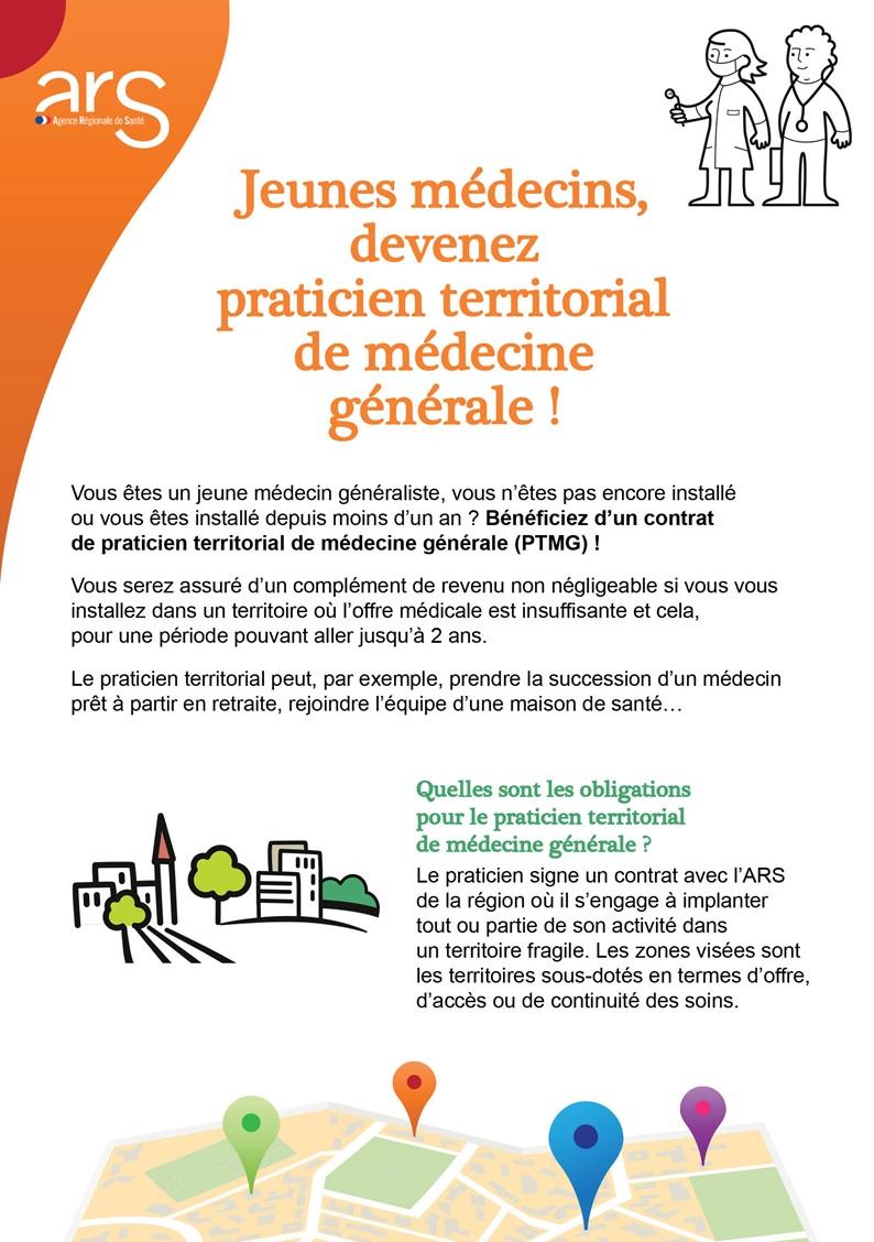 386b7f6b893071 Information sur le nouveau dispositif des praticiens territoriaux en  médecine générale (PTMG).